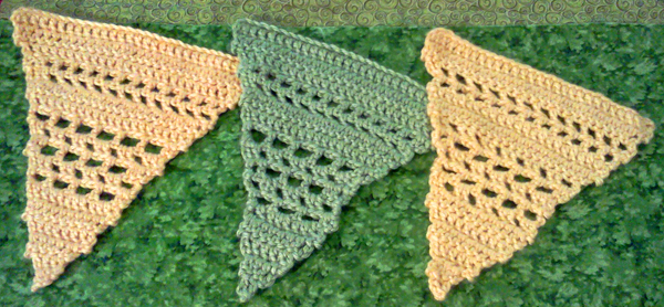 Crocheted lacy bunting / banners
